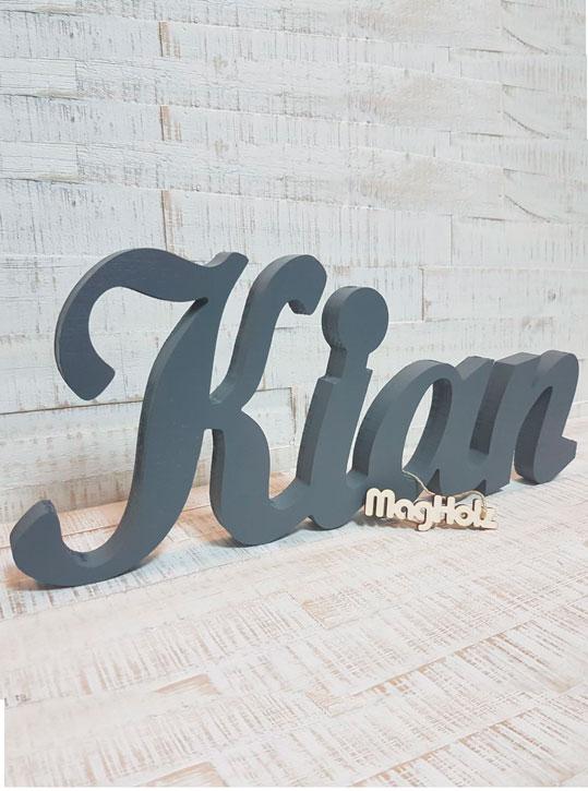 Wunschname Schriftzug 18mm Holz MagHolz