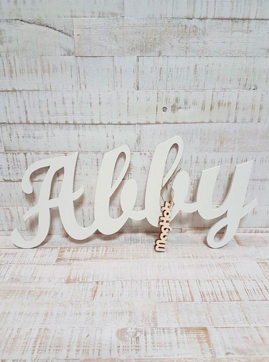 Schriftzug, Wunschname, Namenszug Abby