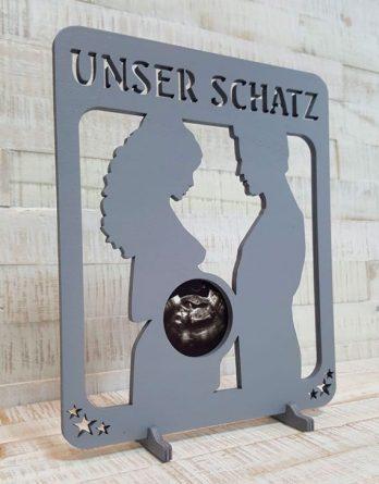 Ultraschall-Bilderrahmen-Unser-Schatz-Grau