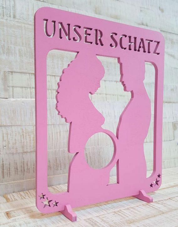 Ultraschall-Bilderrahmen-Unser-Schatz-Rosa